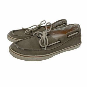 Sperry Kids Halyard Canvas Boat Shoes 3Y Kahki